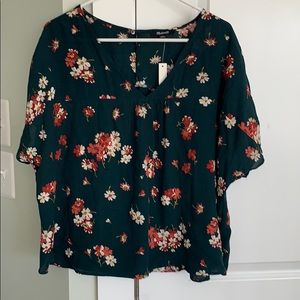 Madewell V-neck Top - L